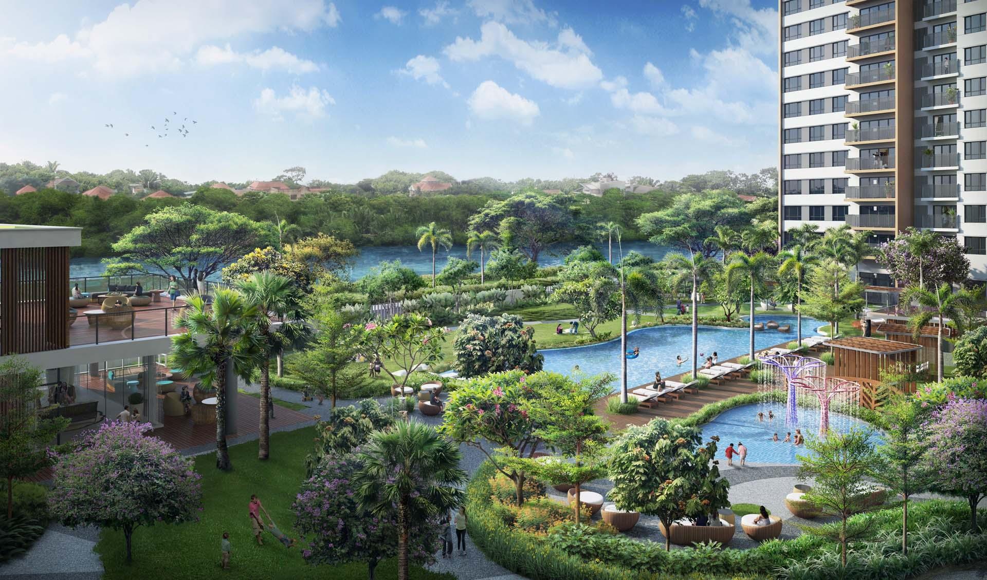 Khám phá nội thất Dự án căn hộ hạng sang Palm Garden