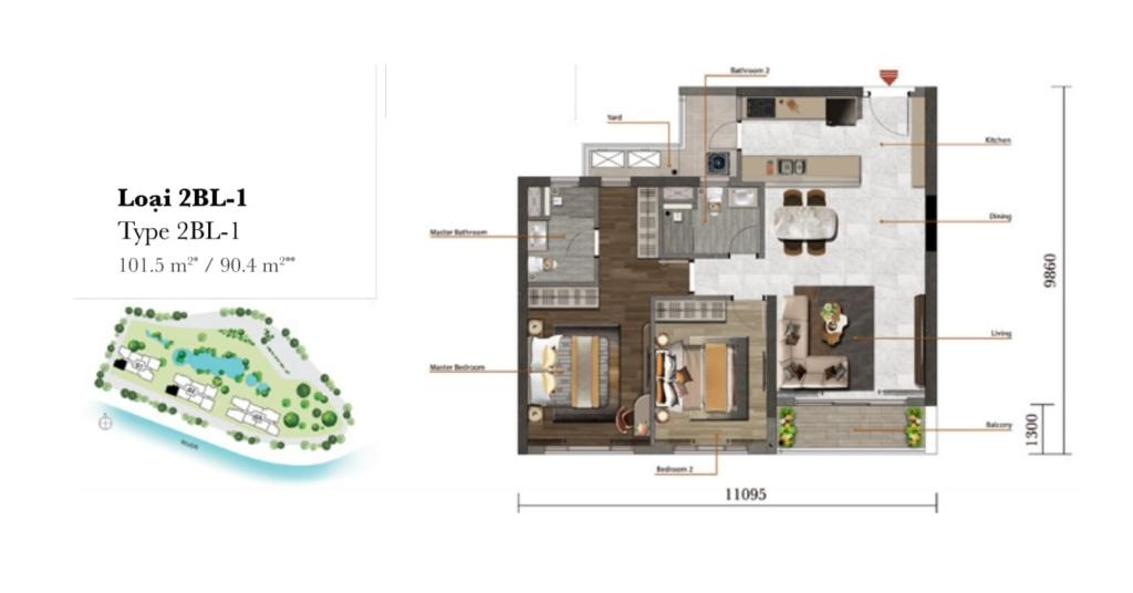 Điểm thế những lợi thế của Khu căn hộ hạng sang Palm Garden